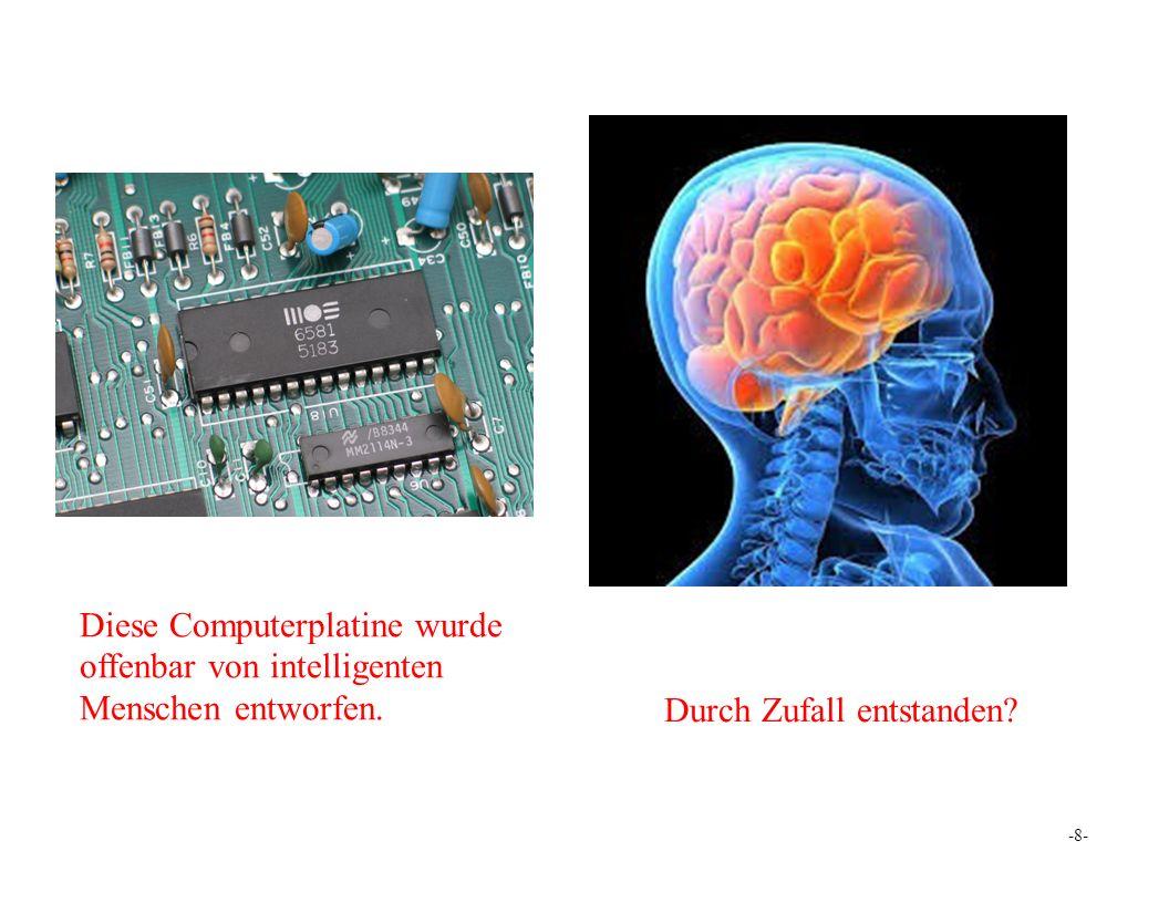Entwickelt von intelligenten Menschen. Von niemandem entwickelt? -19-