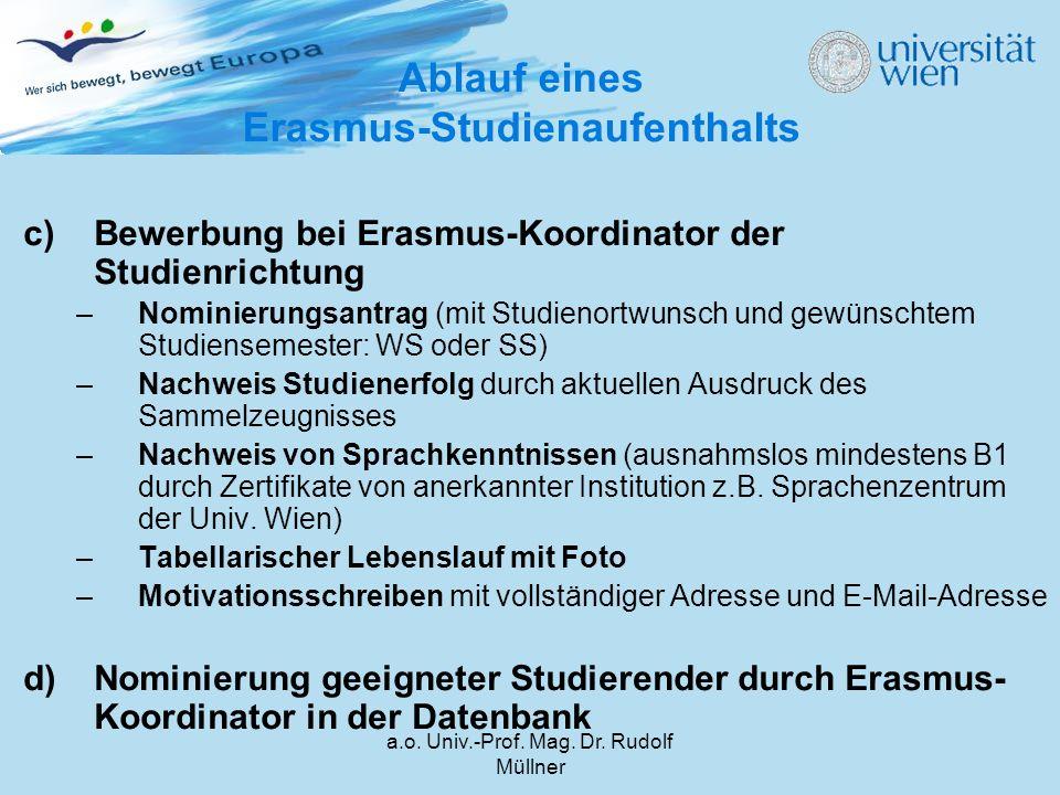 a.o.Univ.-Prof. Mag. Dr. Rudolf Müllner e)Folgende Formulare bei SSC (Hr.