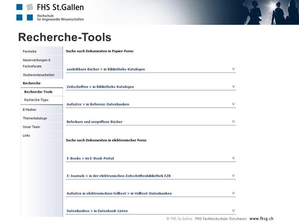 Recherche-Tools