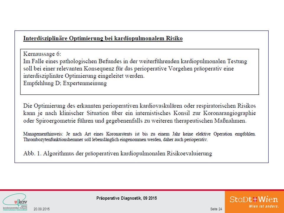 Seite 2420.09.2015 Präoperative Diagnostik, 09 2015