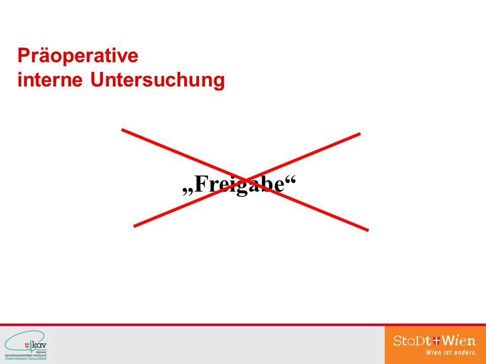 """Präoperative interne Untersuchung """"Freigabe"""