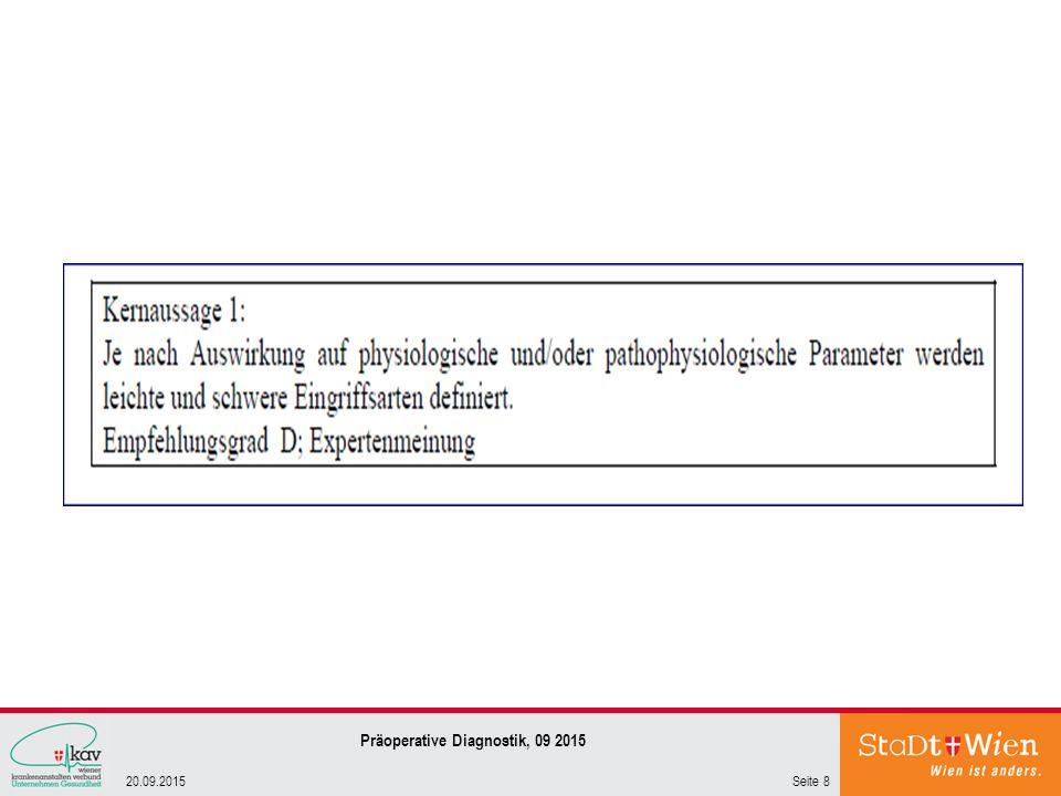 Seite 820.09.2015 Präoperative Diagnostik, 09 2015