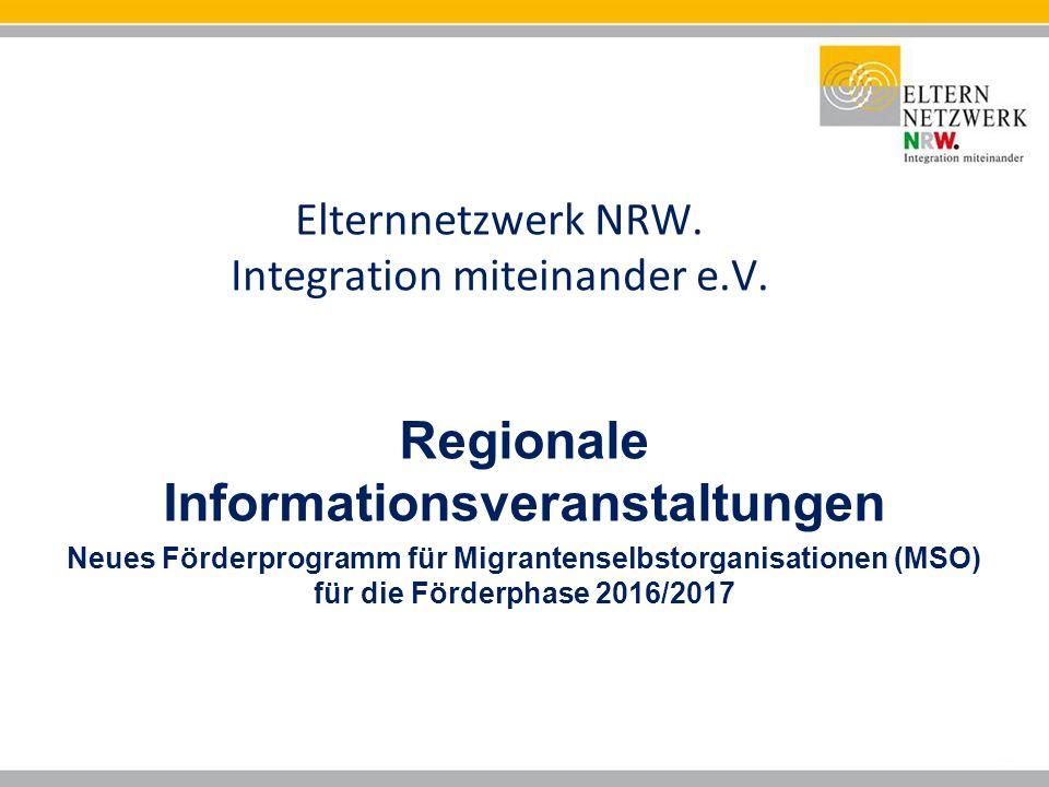 Elternnetzwerk NRW. Integration miteinander e.V.