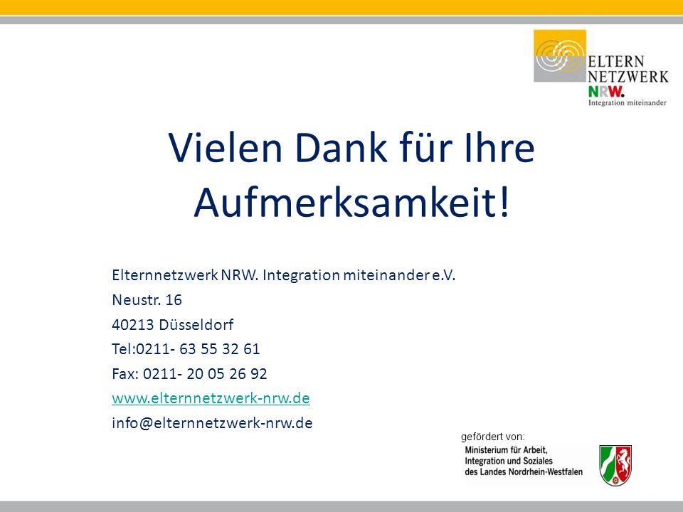 Vielen Dank für Ihre Aufmerksamkeit. Elternnetzwerk NRW.