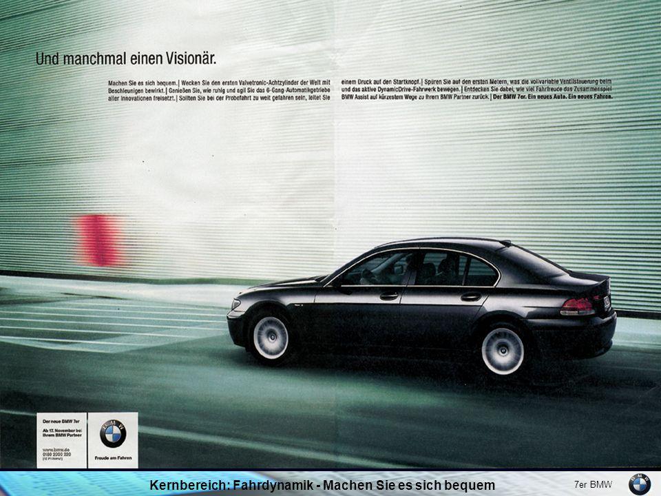 7er BMW Kernbereich: Fahrdynamik - Machen Sie es sich bequem