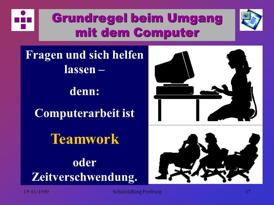 15-11-1999Schulstiftung Freiburg36 Der Moderator natürlichernsthaftsouverän