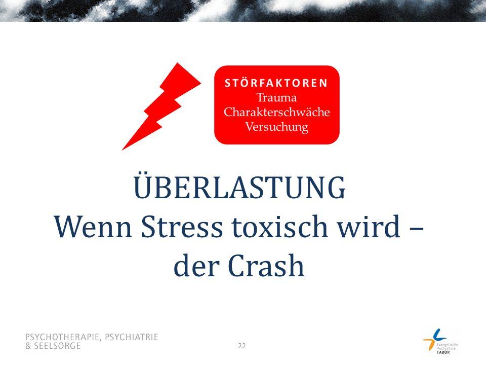 22 ÜBERLASTUNG Wenn Stress toxisch wird – der Crash