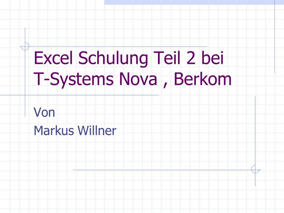 Tips Excel fügt immer vor den aktuellen Markierungen ein, nicht dahinter.