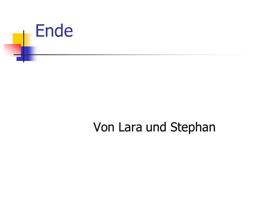 Ende Von Lara und Stephan