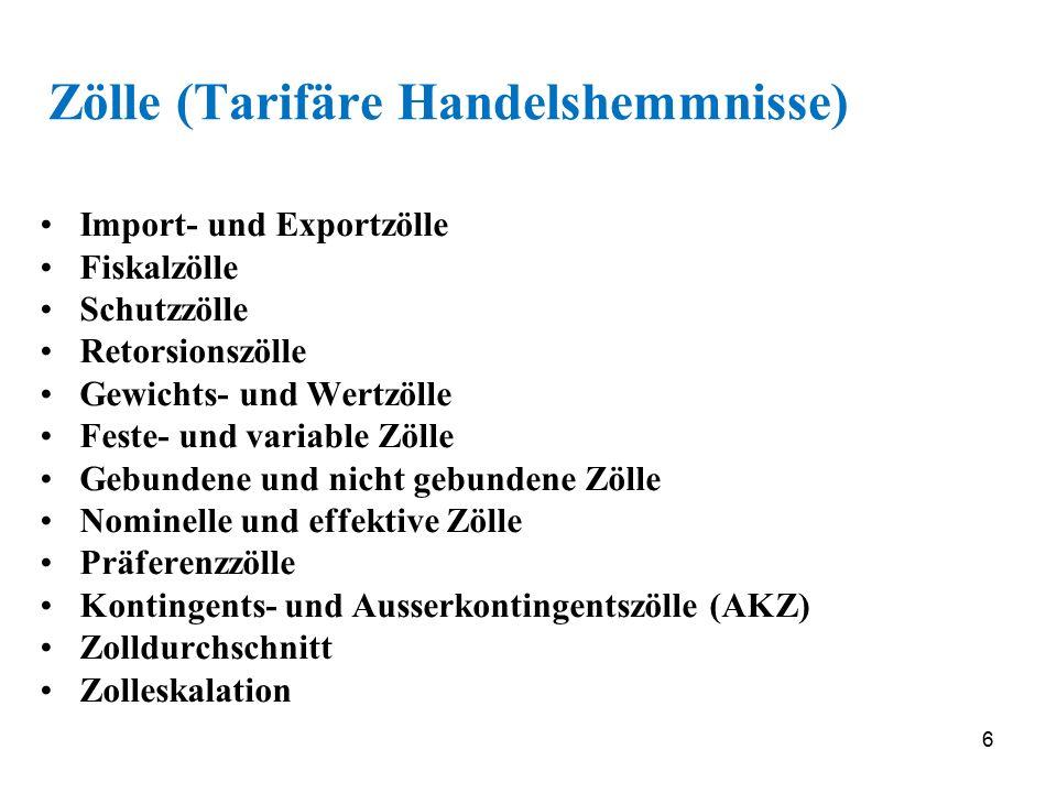 37 Allgemeine GATT-Bestimmungen (ausgenommen Hauptelemente) Art.