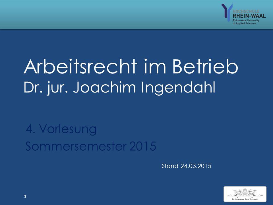 Arbeitsrecht im Betrieb 4 ALG I: Sperrzeit, § 159 SGB III Verschuldeter Verlust d.