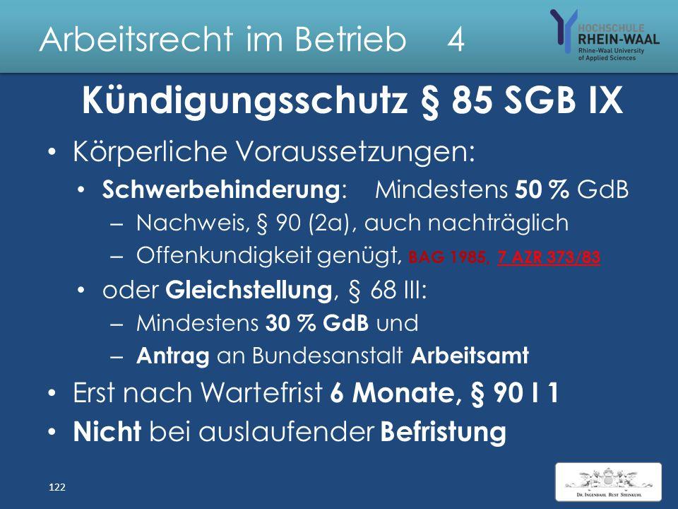 Arbeitsrecht im Betrieb 4 Feststellung der Behinderung, § 69 SGB IX: Auf Antrag an das Versorgungsamt Feststellung durch Bescheid: Körperliche o. geis