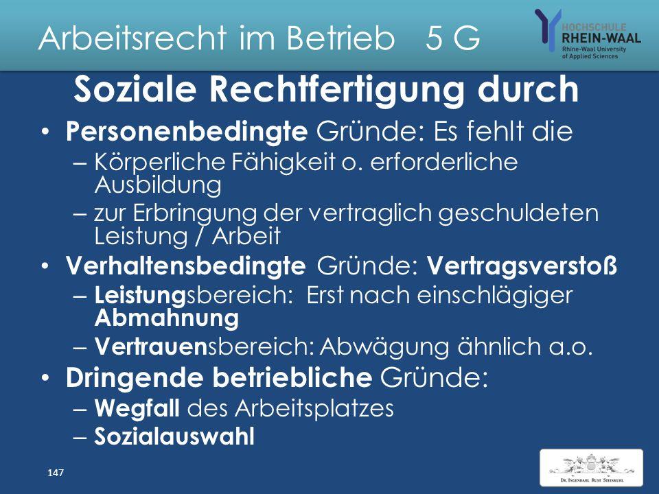 Arbeitsrecht im Betrieb 5 G Kündigungsschutzgesetz KSchG 1. Arbeitgeber: Betrieb mit in der Regel mehr als 10 Arbeitnehmern a) Betrieb : Organisatoris