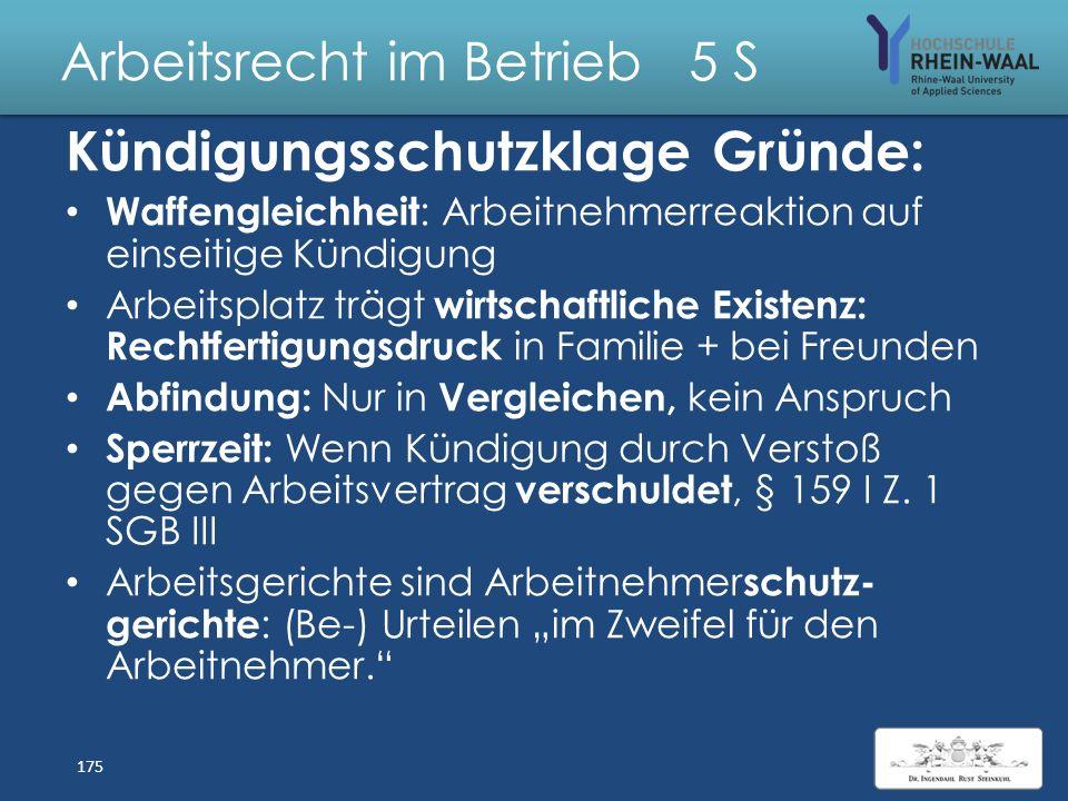 Arbeitsrecht im Betrieb 5 S Optionen AN auf Änderungskündigung Kündigung Änderungs-Konsequenz angebot 1. Annahme -----Beendigung ArbV 2. Annahme Annah