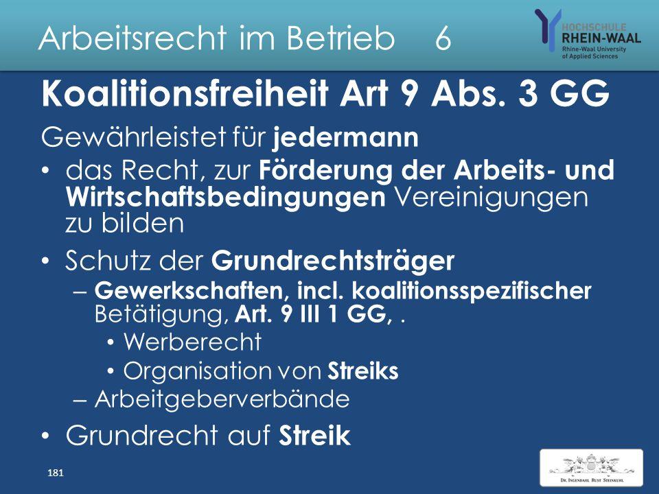 Arbeitsrecht im Betrieb 6 Gewerkschaften & Tarifverträge Arbeitnehmerüberlassung & Scheinselbständigkeit 180