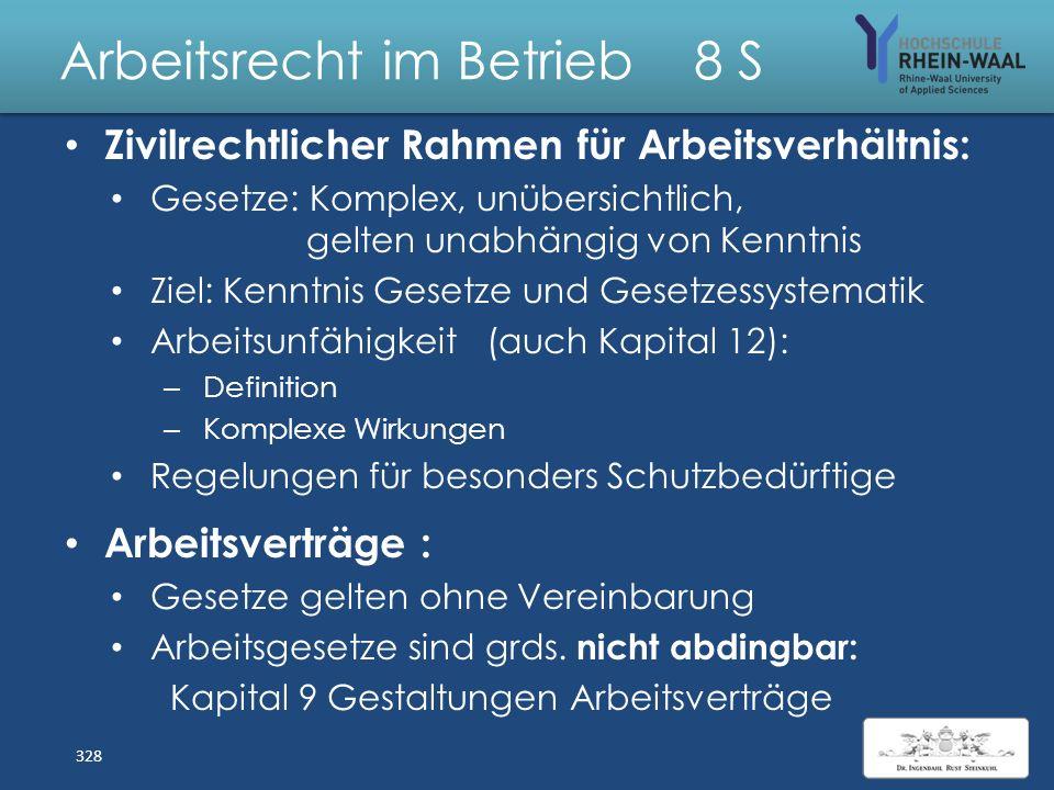 Arbeitsrecht im Betrieb 8 S Flexibilisierung Personal- Abbau Befristet e Arbeitsverträge Einsatz Leiharbeitnehmer Outsourcen : Dienst-/ Werkverträge B