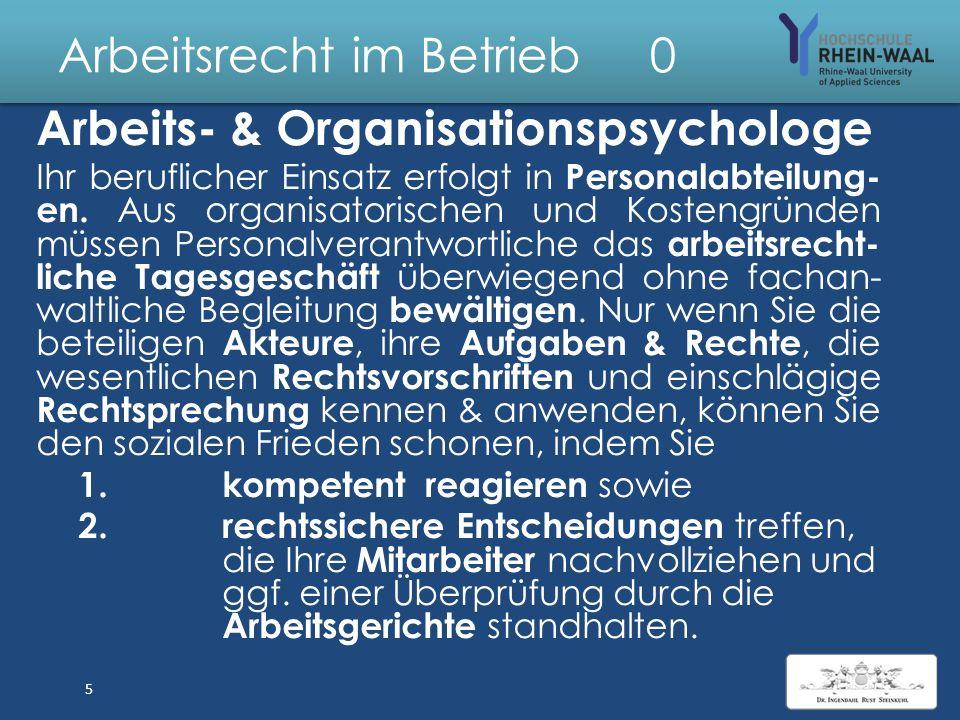 Arbeitsrecht im Betrieb 5 G II.Sozialauswahl, § 1 Abs.