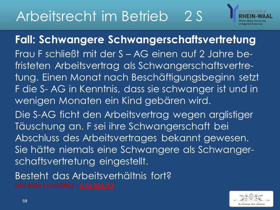 Arbeitsrecht im Betrieb 2 S Lösung: Vereinbarung Tantieme 1.Schriftlicher Arbeitsvertrag: Nur für 1. Jahr 2.Betriebliche Übung: a)Wiederholte, mindest
