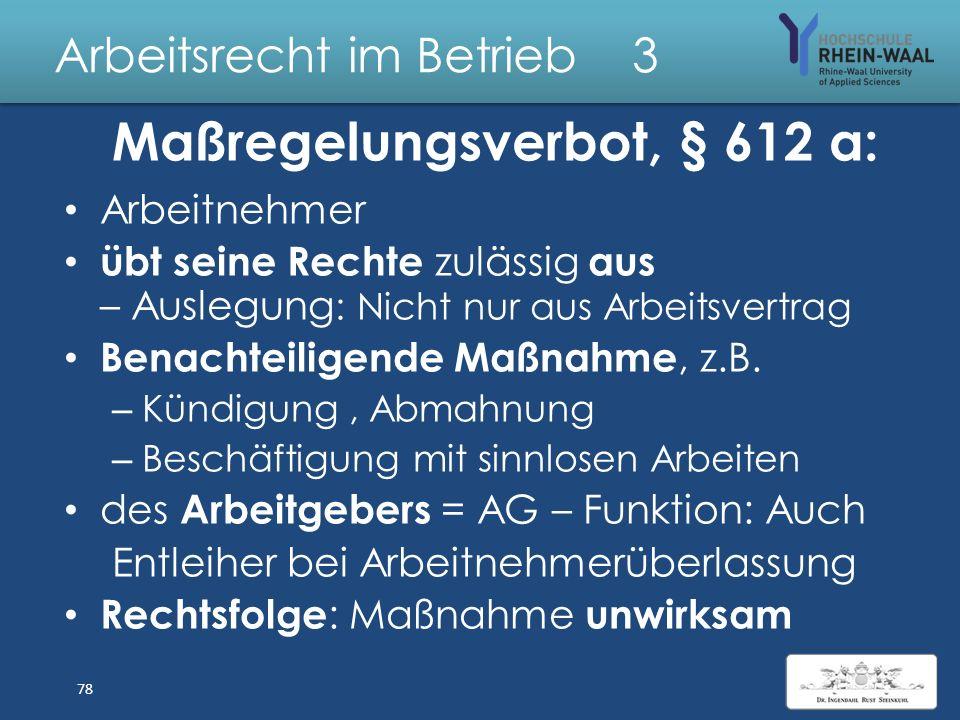"""Arbeitsrecht im Betrieb 3 G Grundsatz """" Ohne Arbeit kein Lohn"""" Ausnahmen : BGB Annahmeverzug des Arbeitgebers §§ 293, 295, 615 Kündigung, a.o, Freiste"""