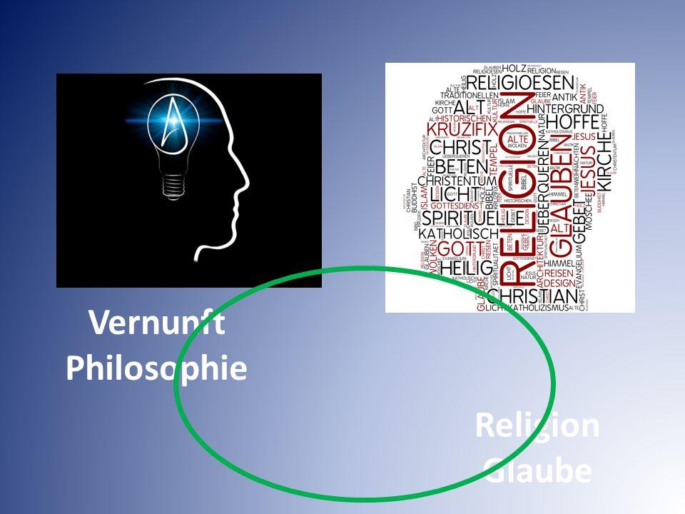Vernunft Philosophie Religion Glaube