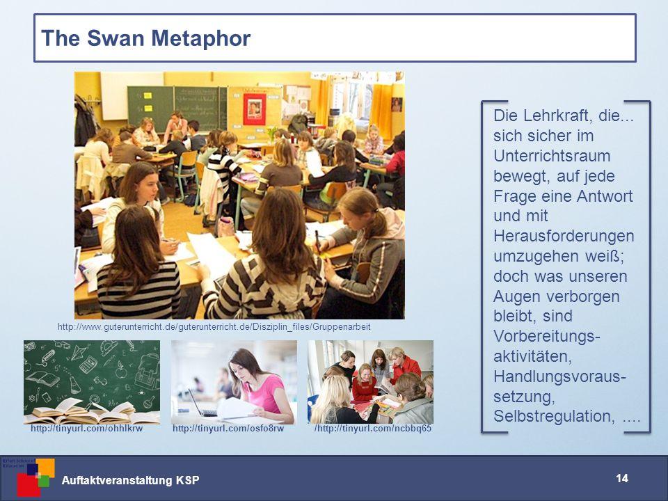 Auftaktveranstaltung KSP 14 The Swan Metaphor Die Lehrkraft, die...