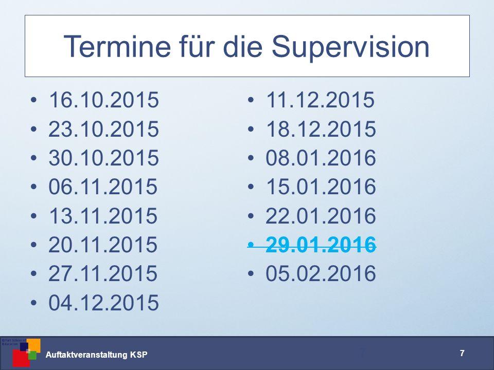 Auftaktveranstaltung KSP 38 Fragebogen – Ablauf Heute –Erst-Erhebung Letzte Supervisionsveranstaltung –Zweit-Erhebung 38