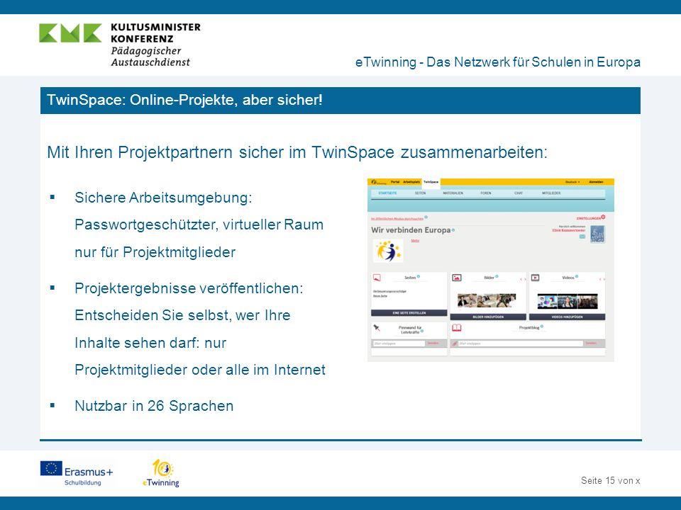 Seite 15 von x TwinSpace: Online-Projekte, aber sicher.