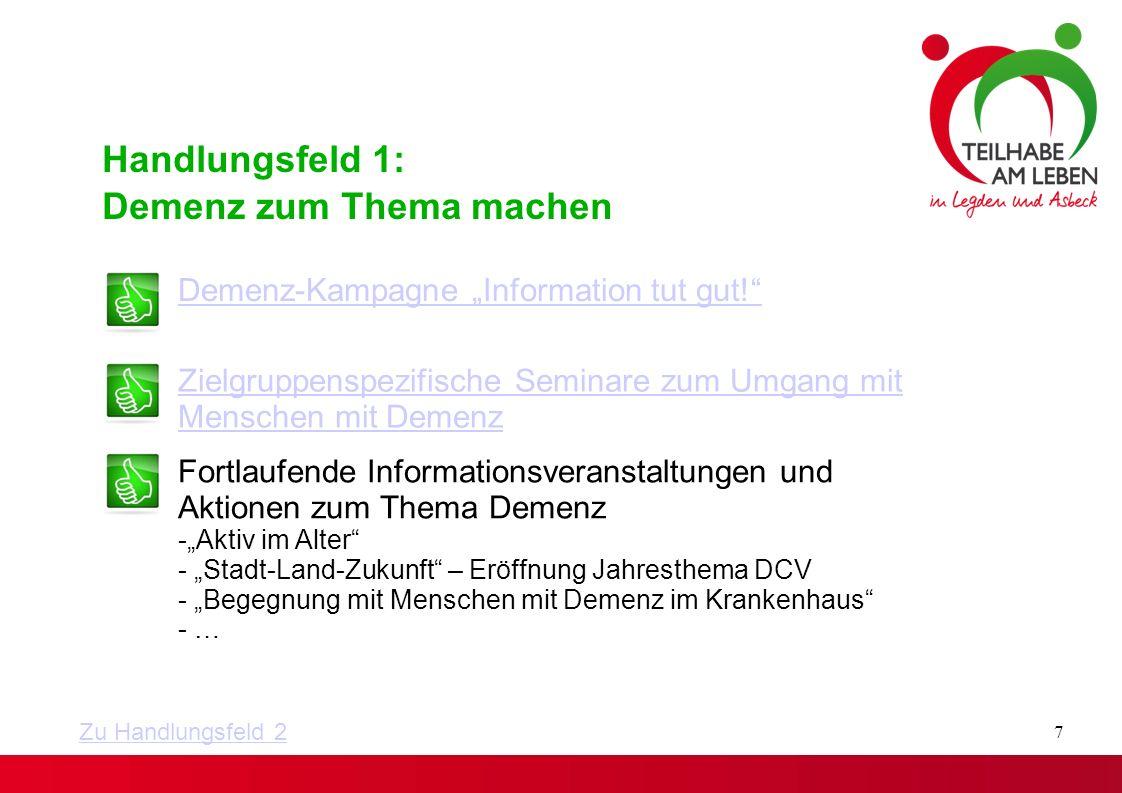 Demenz-Parcours November 2014 Aktionswoche in Kooperation mit dem Altenwohnhaus St.