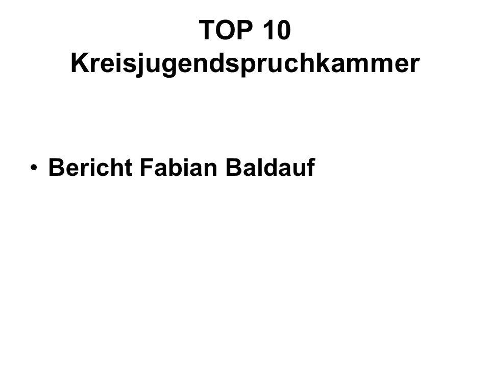 TOP 10 Kreisjugendspruchkammer Bericht Fabian Baldauf