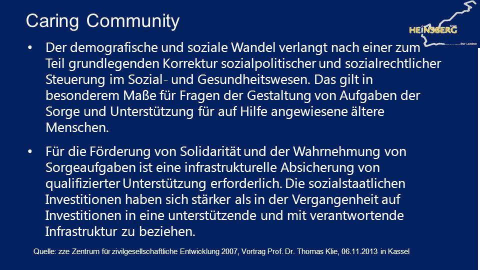 Der demografische und soziale Wandel verlangt nach einer zum Teil grundlegenden Korrektur sozialpolitischer und sozialrechtlicher Steuerung im Sozial-