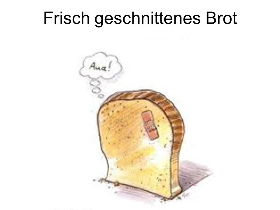 Frisch geschnittenes Brot
