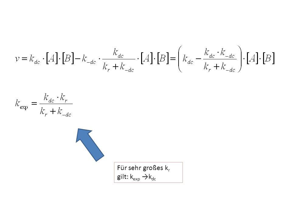 Für sehr großes k r gilt: k exp →k dc