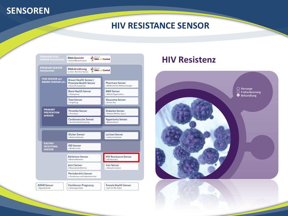 SENSOREN HIV RESISTANCE SENSOR HIV Resistenz