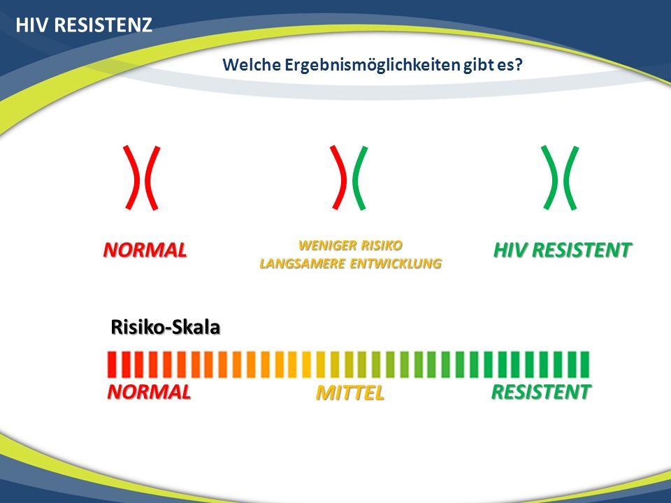 HIV RESISTENZ Welche Ergebnismöglichkeiten gibt es.