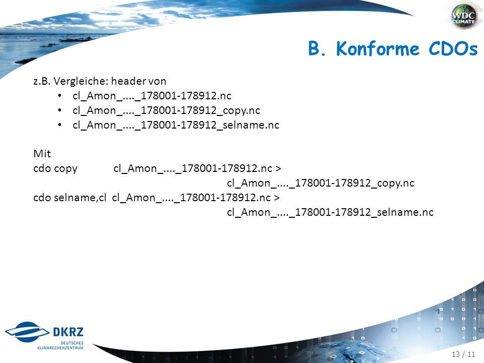 13 / 11 B. Konforme CDOs z.B.