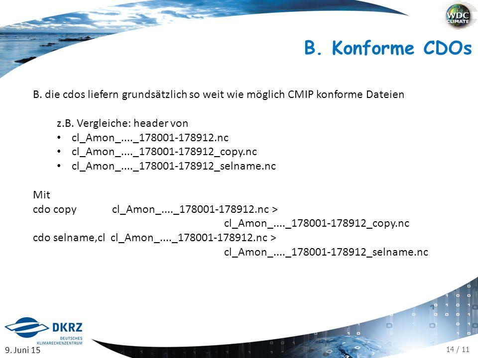 14 / 11 B. Konforme CDOs B.