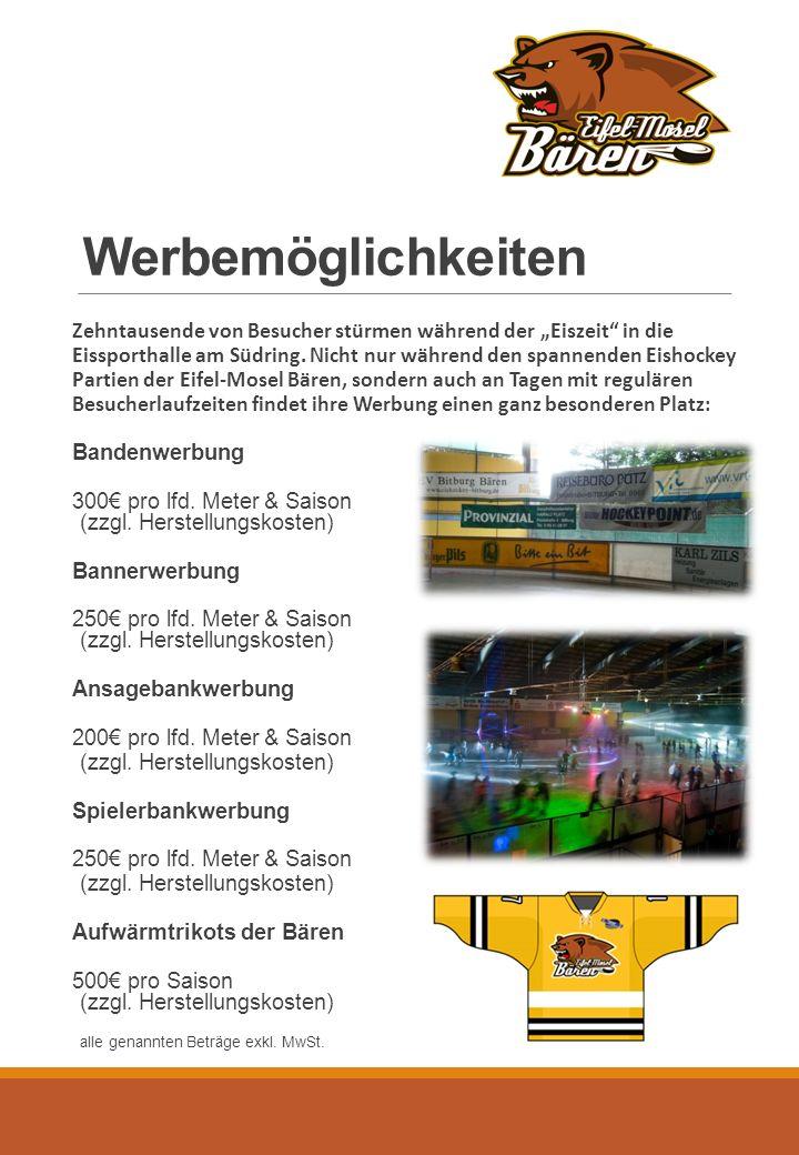 """Werbemöglichkeiten Zehntausende von Besucher stürmen während der """"Eiszeit in die Eissporthalle am Südring."""