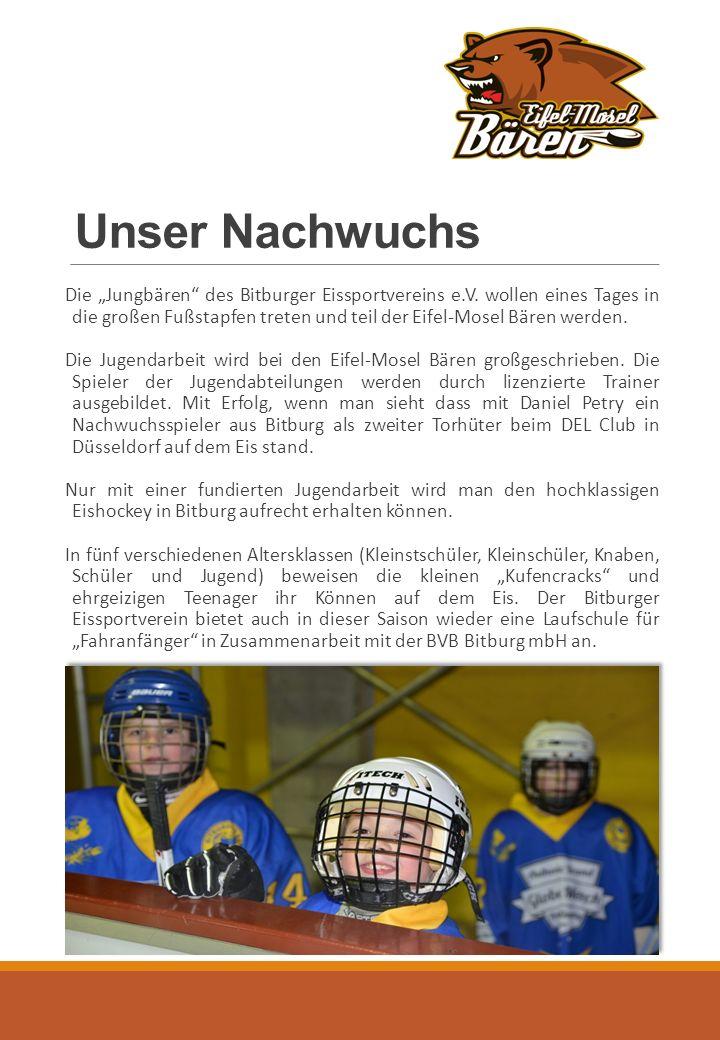 """Unser Nachwuchs Die """"Jungbären des Bitburger Eissportvereins e.V."""