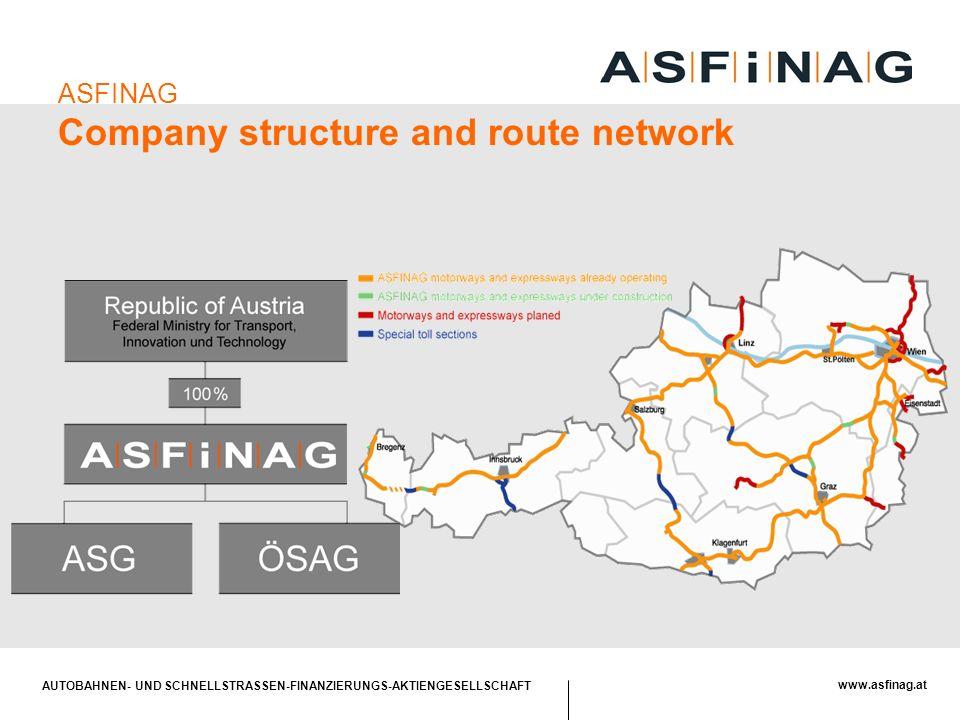 AUTOBAHNEN- UND SCHNELLSTRASSEN-FINANZIERUNGS-AKTIENGESELLSCHAFT www.asfinag.at ASFINAG Company structure and route network
