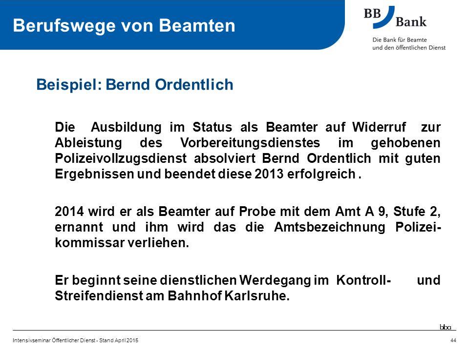 Die Ausbildung im Status als Beamter auf Widerruf zur Ableistung des Vorbereitungsdienstes im gehobenen Polizeivollzugsdienst absolviert Bernd Ordentlich mit guten Ergebnissen und beendet diese 2013 erfolgreich.