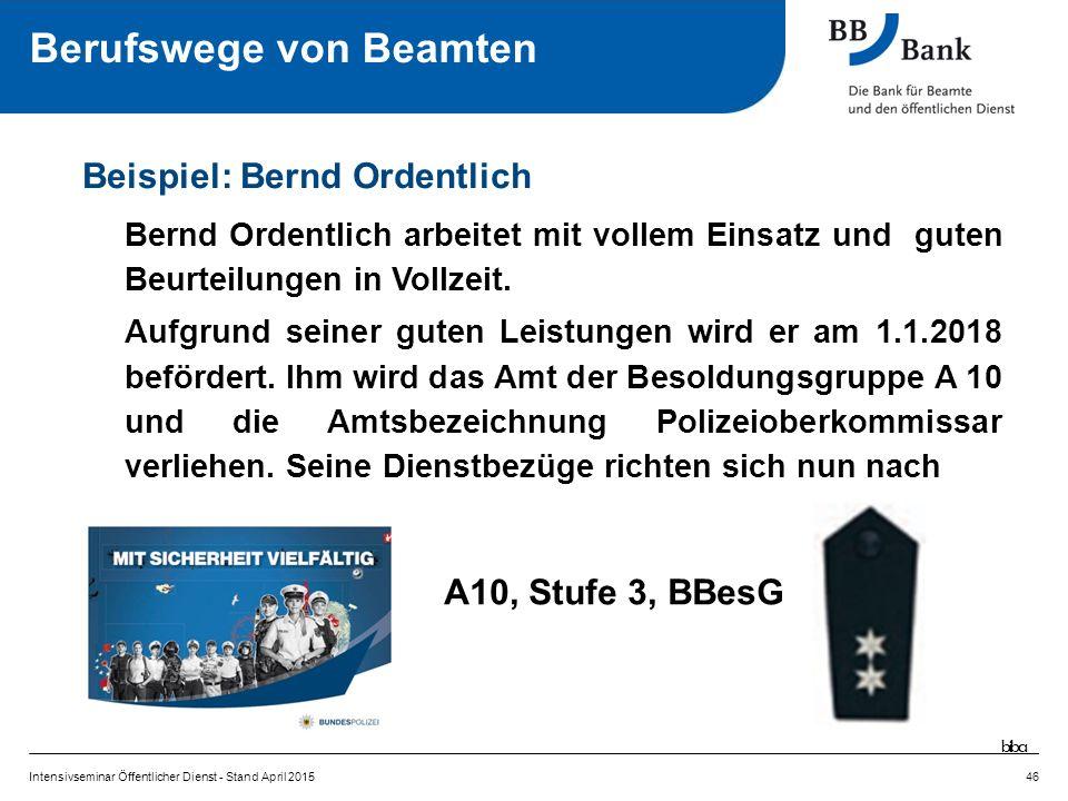 Bernd Ordentlich arbeitet mit vollem Einsatz und guten Beurteilungen in Vollzeit.