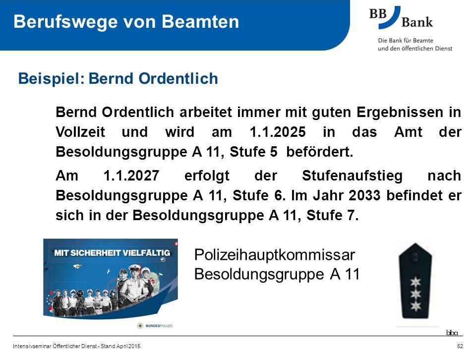 Bernd Ordentlich arbeitet immer mit guten Ergebnissen in Vollzeit und wird am 1.1.2025 in das Amt der Besoldungsgruppe A 11, Stufe 5 befördert.