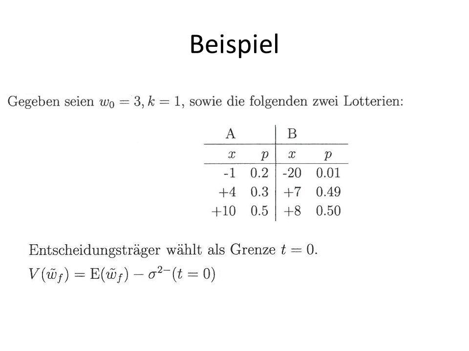 Quelle: Mechler, 2004 Staat und Risikoaversion Empirische Analysen zu Arrow-Lind