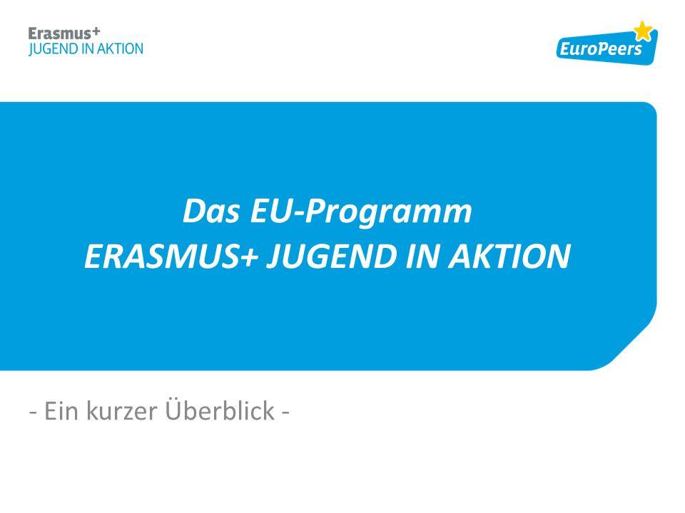 Das EU-Programm ERASMUS+ JUGEND IN AKTION - Ein kurzer Überblick -