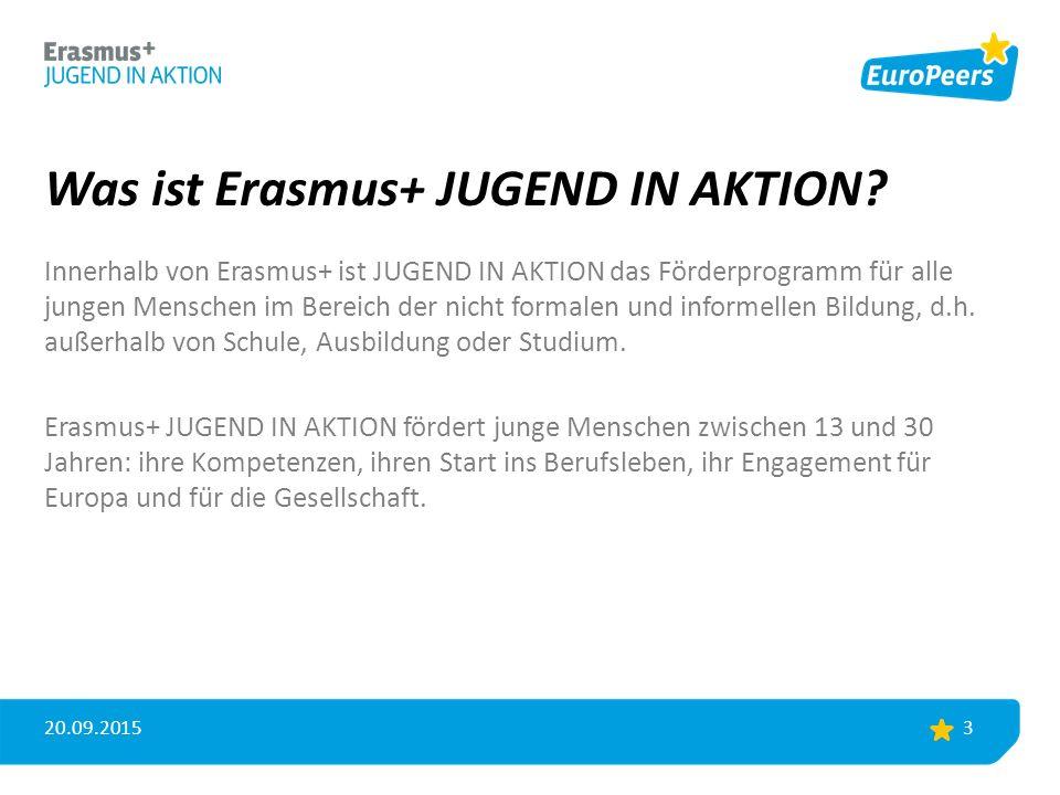Was ist Erasmus+ JUGEND IN AKTION.