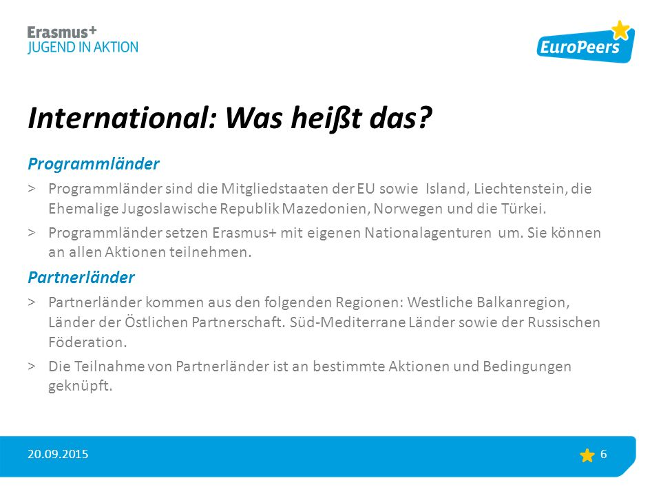 International: Was heißt das.
