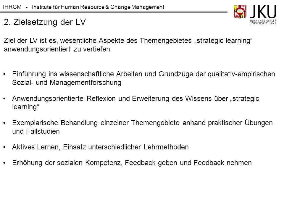 IHRCM - Institute für Human Resource & Change Management 5. Das SSCI Ranking