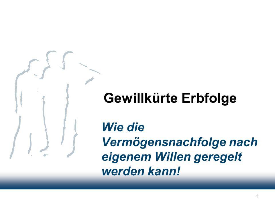 Das Problem mit dem Berliner Testament...und es kann von dem überlebenden Ehepartner nicht mehr geändert werden.