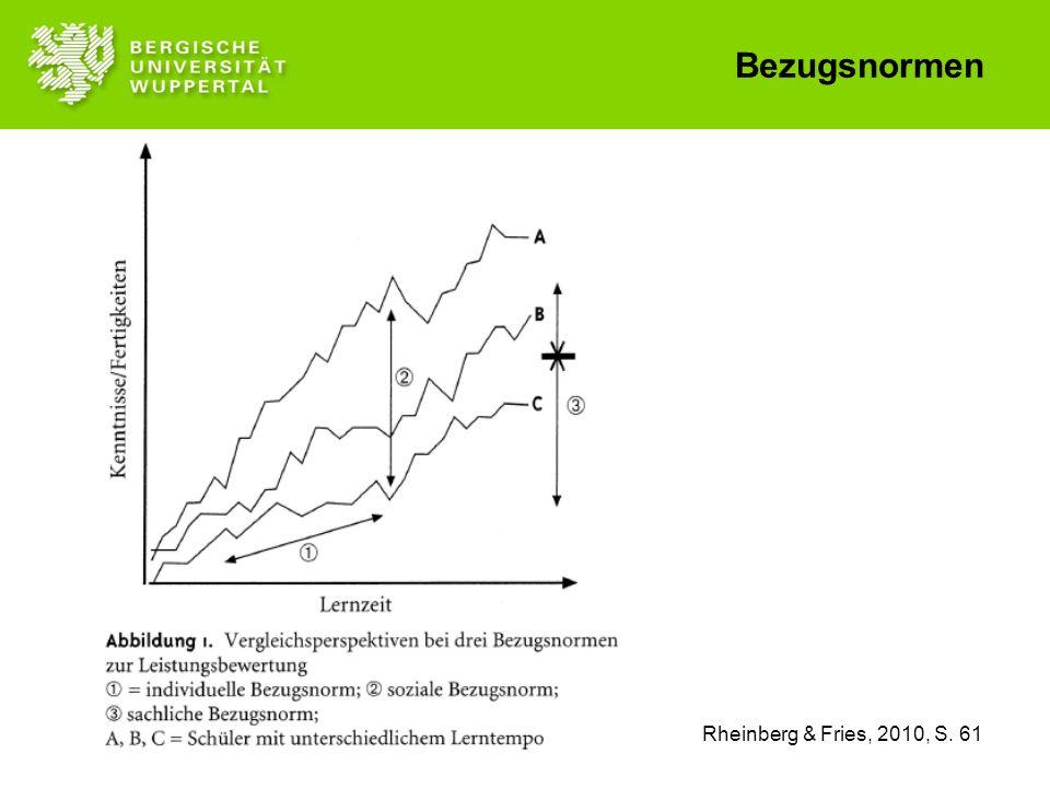 Rheinberg & Fries, 2010, S. 61 Bezugsnormen