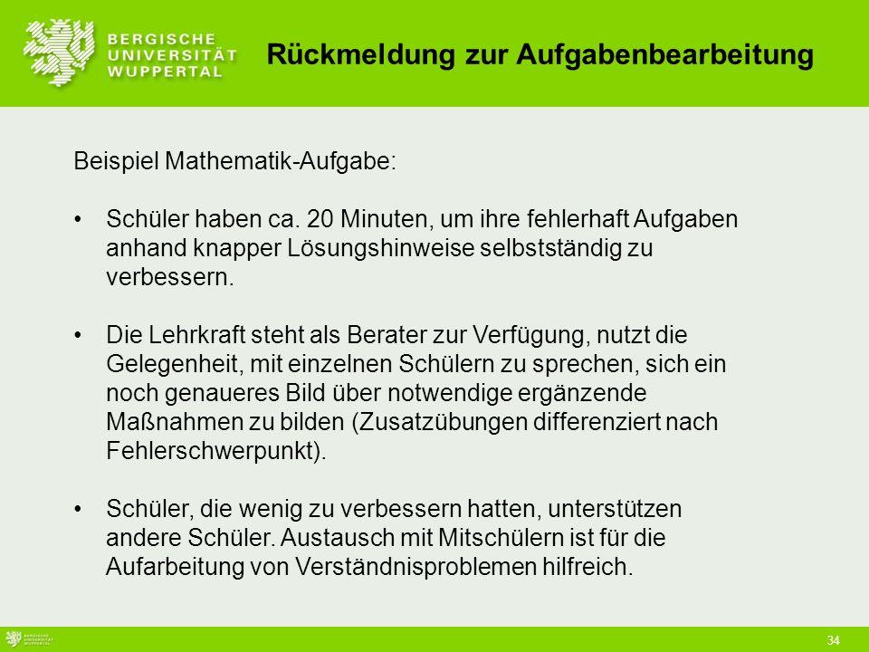 34 Beispiel Mathematik-Aufgabe: Schüler haben ca.